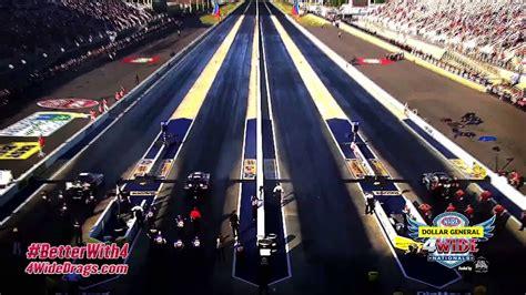 nhra  wide racing  zmax dragway youtube