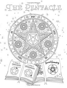 Book of Spells   Witch coloring pages, Book of shadows