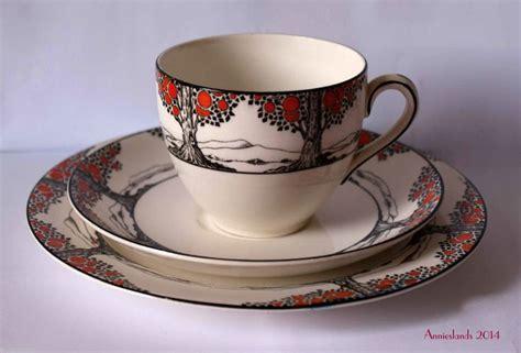 Crown Ducal Vase Crown Ducal 1930 S Art Deco Orange Tree Tea Cup Rare Size