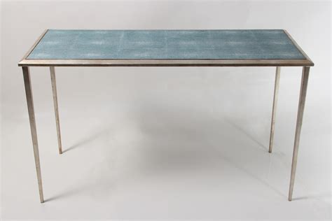 shagreen console table ellie console table teal shagreen forwood design