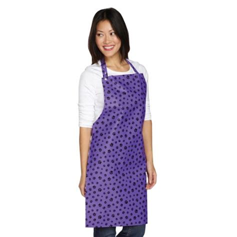 top performance pvc waterproof grooming apron purple