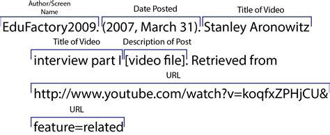 apa format youtube video mla citation video youtube