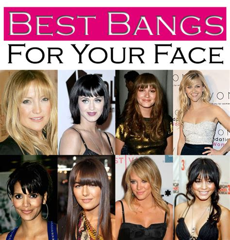different types of bangs best bangs for your face shape