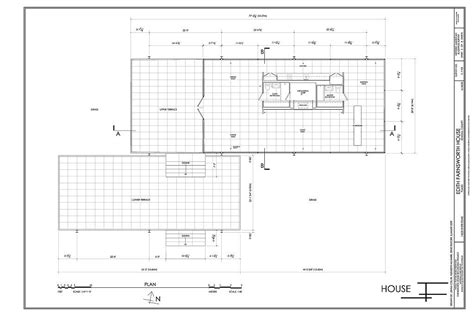 Farnsworth House Floor Plan Dimensions   farnsworth house