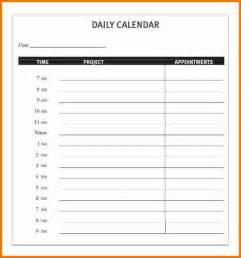 daily calendar template 3 daily calendar template expense report