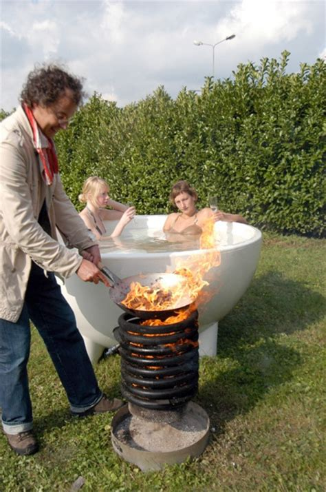 outdoor bathtub wood fired wood burning hot tub