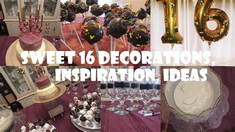 sweet 16 decoration ideas home turning sweet 16 birthday party ideas for boys and girls