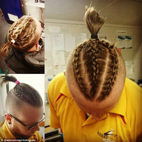 guy with french braids shaved side new hair trend sweeping instagram sees hipster men