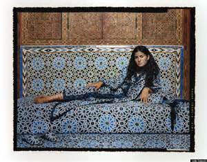 Lalla Essaydi Artwork by Mirage A Trois The Veiled Feminism Of Moroccan Born Photographer Lalla Essaydi