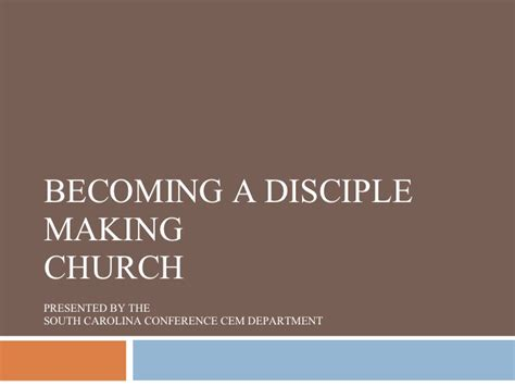 becoming a parish of becoming a disciple making church