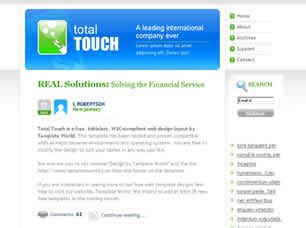 layout css touch total touch free website template free css templates