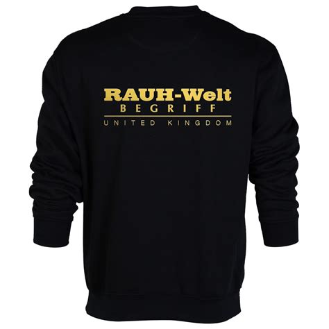 rwb porsche logo rauh welt begriff rwb uk black sweatshirt with golden logo
