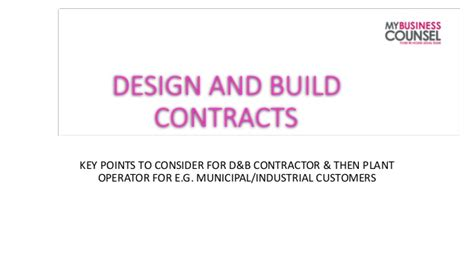 design and build contract design build contracts key points for a main
