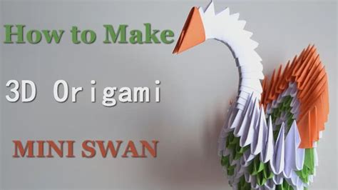 How To Make A Origami Swan 3d - modular 3d origami swan master of