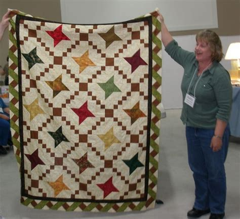 friendship quilt with alternative blocks and twisted