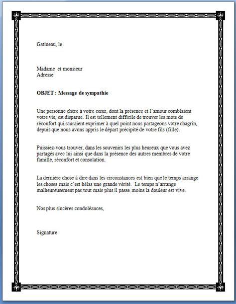 Lettre De Condoléance Entreprise Exemple De Lettre De Remerciement De Condoleances Covering Letter Exle