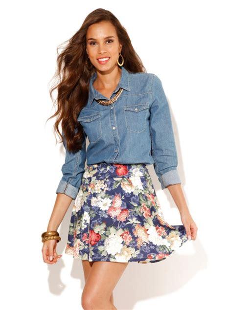 faldas cortas con vuelo falda corta mujer con vuelo flores punto el 225 stico venca
