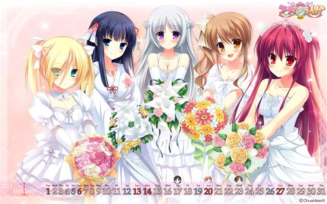 Zaema Dress By D Lovera calendar chuablesoft cleavage dress flowers lovera mikami haruka mutou kurihito