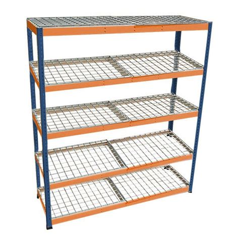 metal point 174 2 steel shelving unit with wire shelves