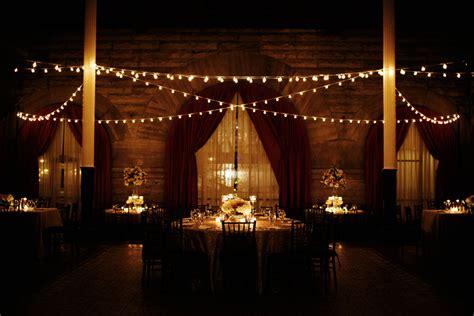 Cafe String Lights Reception Decor Elizabeth Anne String Lights Wedding Reception