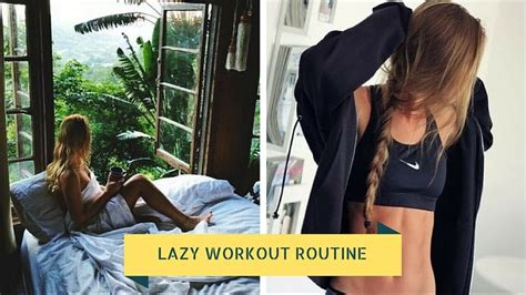 best bedroom workout lazy workout routine 6 moves you can do without leaving