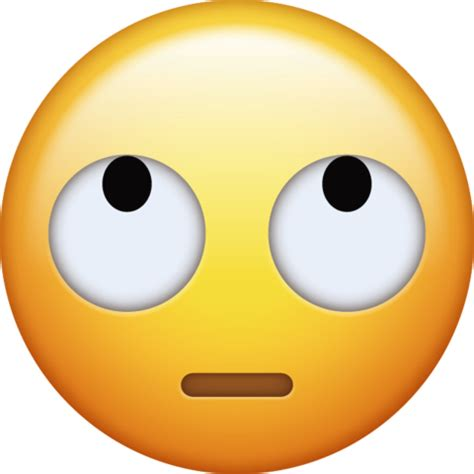 emoji eye roll rolling eyes emoji png transparent background