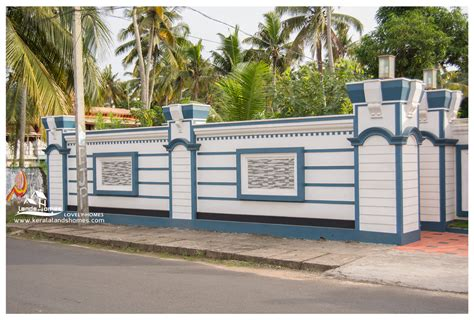compound wall design for house compound wall gate design keralareal estate kerala free