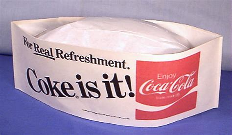How To Make A Soda Hat Out Of Paper - coca cola soda car hop paper coke hat