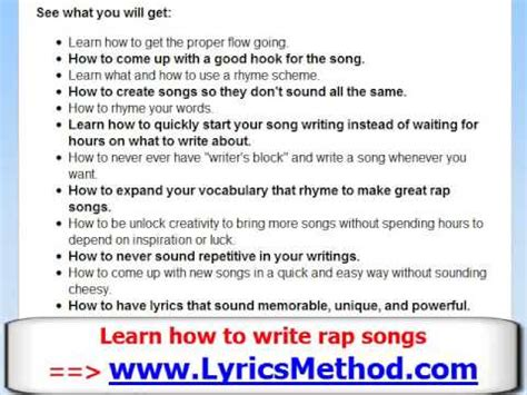 how to make a song how to write a rap song learn to write rap lyrics tips