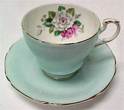 shabby chic tea cups vintage shabby chic tea cup aqua blue outside gold rimmed