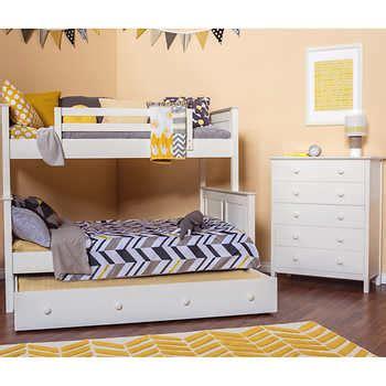 dakota  piece twin  full trundle bunkbed set