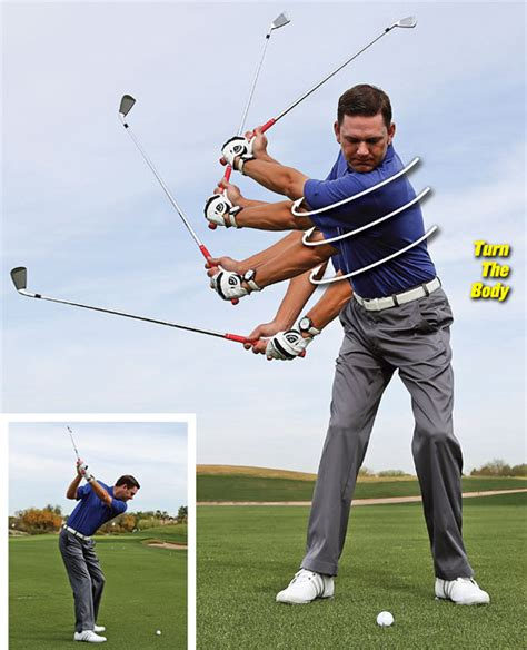 how to swing down on the golf ball 6 piece golf swing golf tips magazine