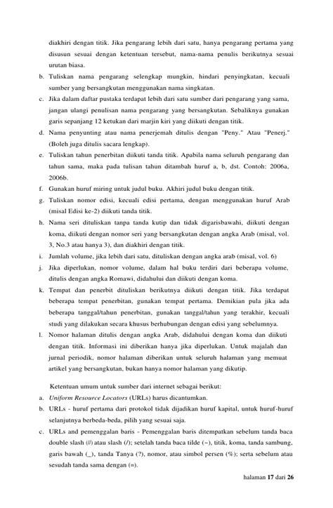 penulisan daftar pustaka jika pengarang lebih dari satu juknis penulisan pkl stan