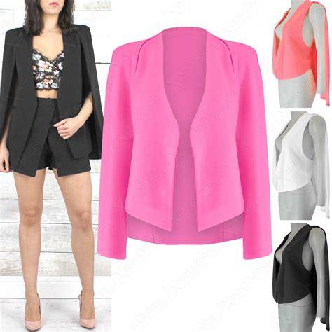 Cape Blazer Orange new 2in1 cape blazer womens sleeveless waistcoat