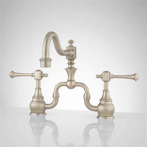 signature hardware vintage bridge kitchen faucet with