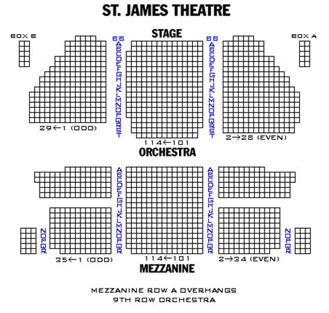 st theater seating plan st theatre playbill