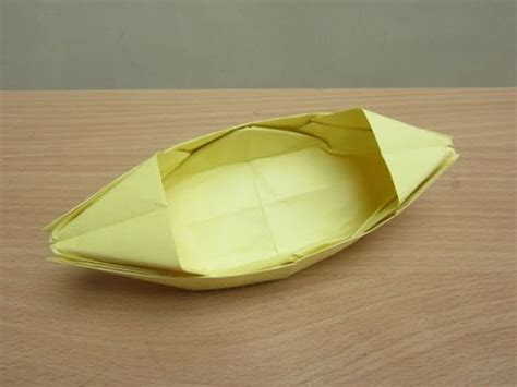 How To Make Paper Float - how to make paper boat that floats on water easy