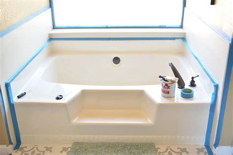 builder grade bathtubs diy builder grade tub update for under 100