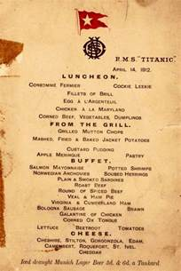 titanic second class menu titanic food menus for 1st 2nd and 3rd class passengers bored panda