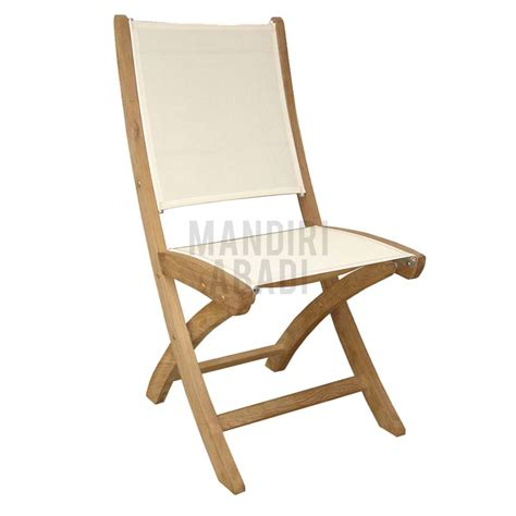 teak sling chair teak patio sling furniture monalisa folding chair batyline
