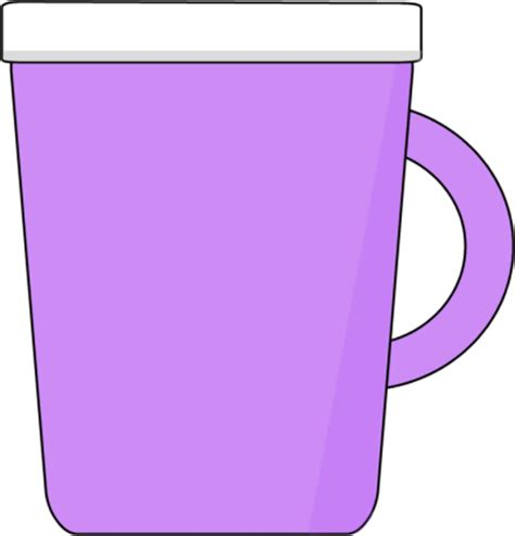 Purple Coffee Mug Clip Art   Purple Coffee Mug Image
