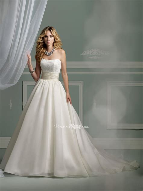 princess strapless wedding dress with sang
