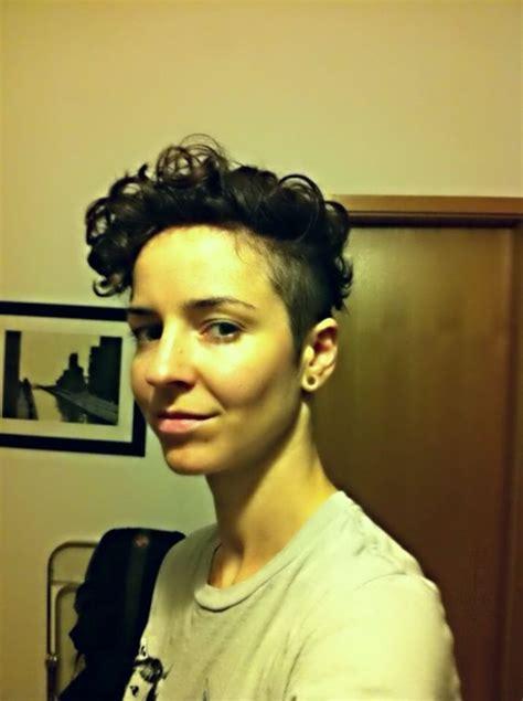 Short Butch Womens Hair | curly short hair undercut women dyke butch tomboy haircut