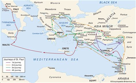 where was st born paul the apostle biography facts britannica