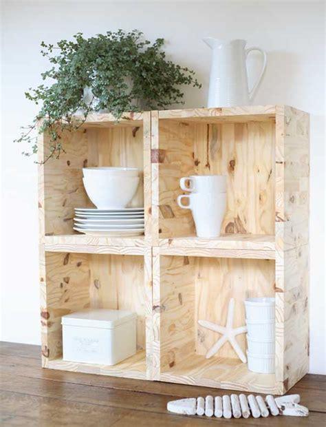 Fabriquer Meuble Etagere by Etag 232 Res Cubes En Bois Esprit Cabane Idees Creatives Et