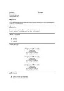 free printable templates free resume template form