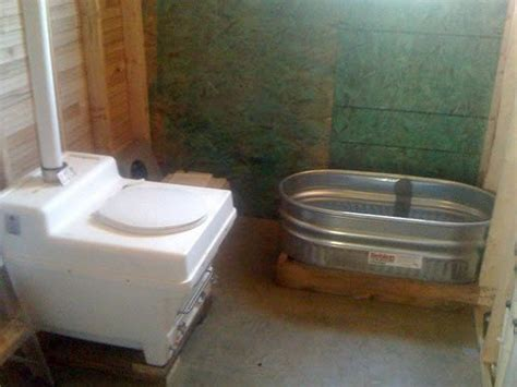 off the grid bathroom tiny bathroom composting toilet and galvanized bath tub