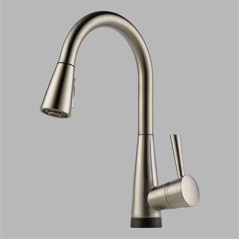 brizo faucets kitchen brizo 64070lf ss venuto single handle kitchen faucet with pul spray and smarttouch