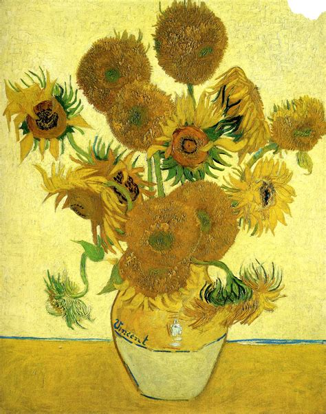 Vase With Fifteen Sunflowers by Still Vase With Fifteen Sunflowers 1888 Vincent