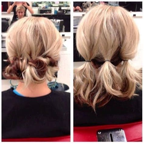 easy messy buns for shoulder length hair 15 ideas of medium long updos hairstyles